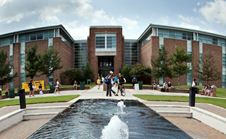 Fayard Building and Fountain